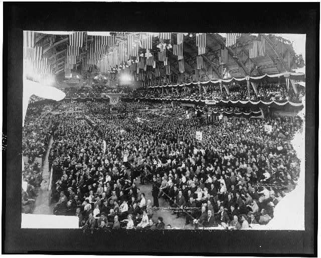 Progressive Convention, 1912. Moffett Studio & Kaufmann, Weimer & Fabry Co.  Prints & Photograph Division, Library Of Congress LC-USZ62-116075